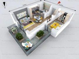 Apartament 2 camere nou Borhanci TVA inclus