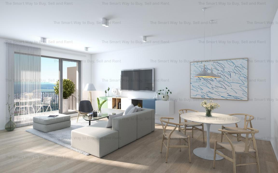 Apartament 3 camere finisat NOU LUX Centru