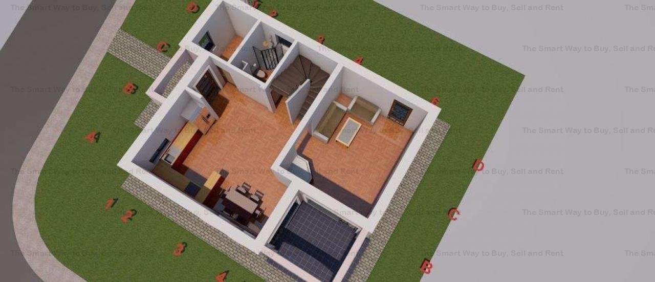Casa Individuala Noua 120mp teren 350 mp Borhanci