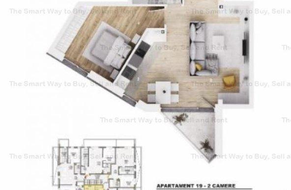 Apartament 2 camere NOU Borhanci