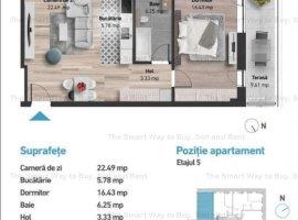 Apartament 2 camere 54mp NOU Zorilor
