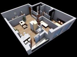 Apartament 3 camere bloc nou Dambul Rotund