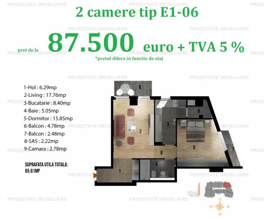 Apartament 2 camere | Baneasa - Sisesti | Peak Residence