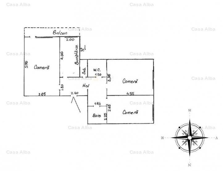 Galata, 3 camere decomandat, spatios, partial mobilat