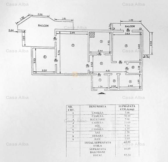 Centru- Bulevardul Stefan cel Mare, 3 camere, suprafata generoasa