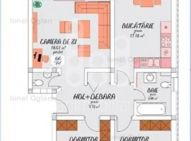 Apartament cu gradina - 3 camere decomandate
