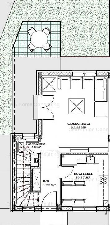 Vila de vanzare P+1 Otopeni 3 camere complex 5 vile insiruite