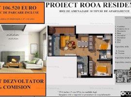 Apartament 3 camere de 93 MPC , 1 loc de parcare inclus in pret, zona Straulesti