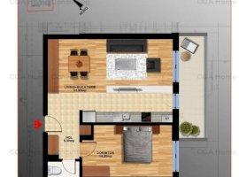 Apartament 2 camere de vanzare, Rond OMV Pipera, Parcare