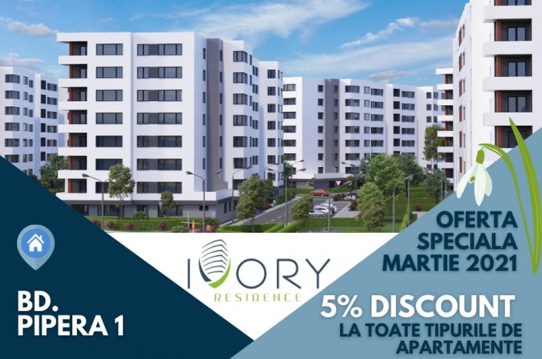 STUDIO decomandat si spatios la Ivory Residence!