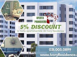 OMV Pipera, 2 camere decomandat, 62.58 mp in Ivory Residence!