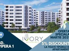 Apartament 2 camere de vanzare-63 mp utili+balcon 23 mp-Ivory Residence Pipera
