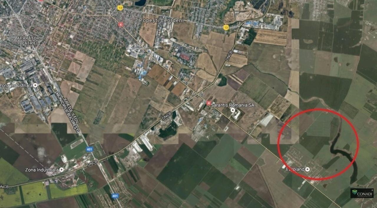 Teren de vanzare DN4 - Centura 24 Ha, posibilitate parcelare
