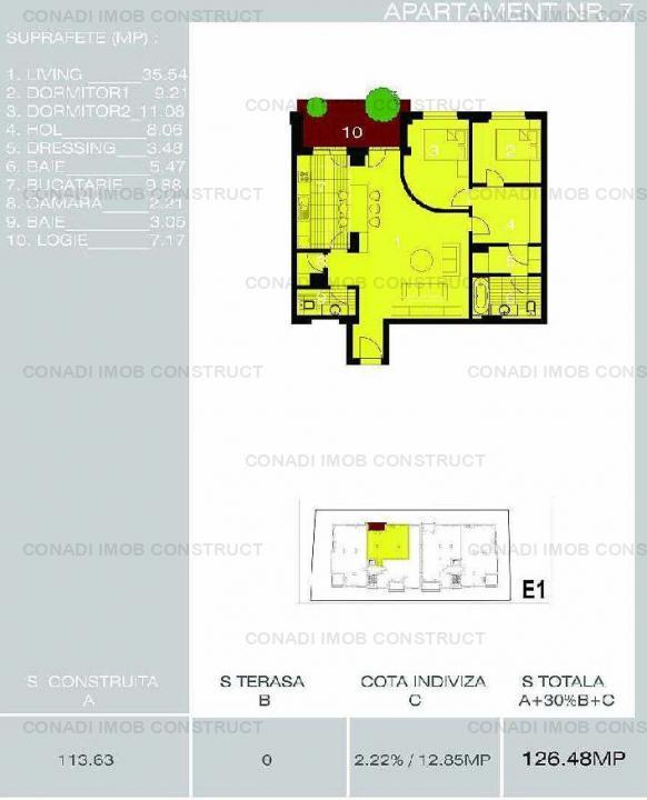 Vanzare apartament nr 7 cu 3 camere Herastrau Satul Francez