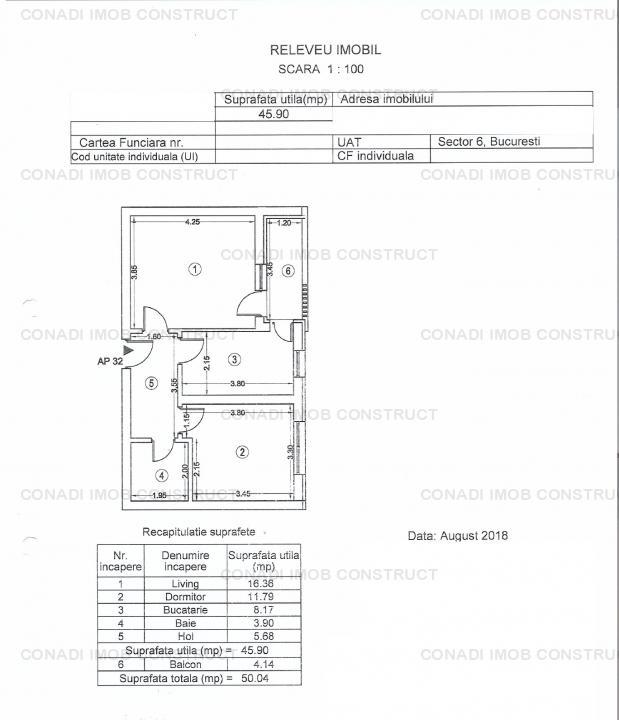 Apartament 2 camere spre inchiriere Plaza Residence cu loc de parcare