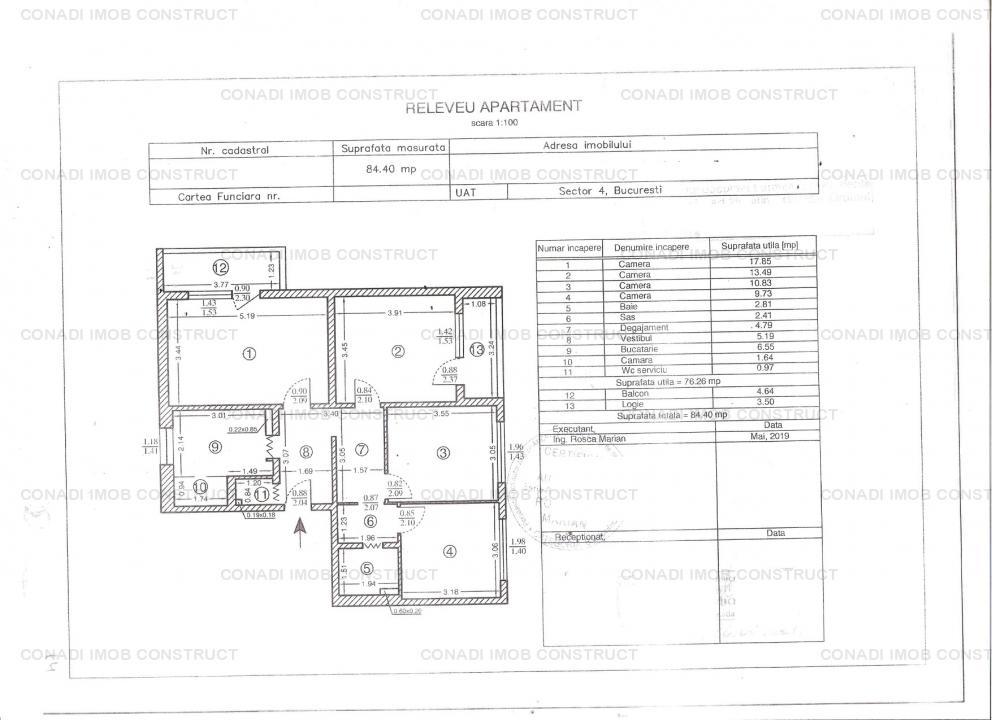 Apartament 4 camere de vanzare str Tatulesti / Giurgiului