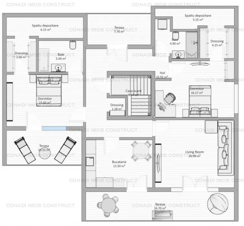 Apartament 3 camere Baneasa - Dobrogeanu Gherea