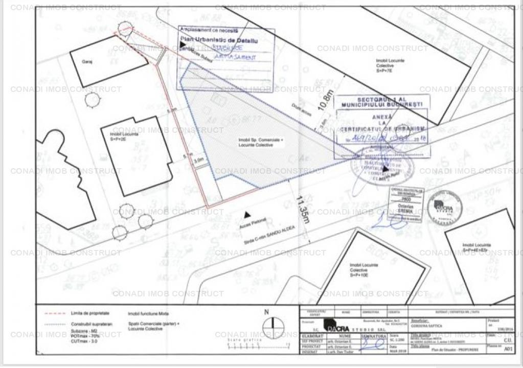 Teren pentru dezvoltare mixta rezidential si comercial zona Domenii