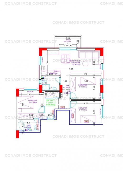 Apartament cu 4 camere la etaj 1  zona Parc Copilului - Grivita - Piata Domenii