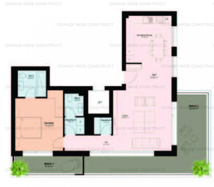 Apartament cu 2 camere in proiect luxury boutique zona Pipera