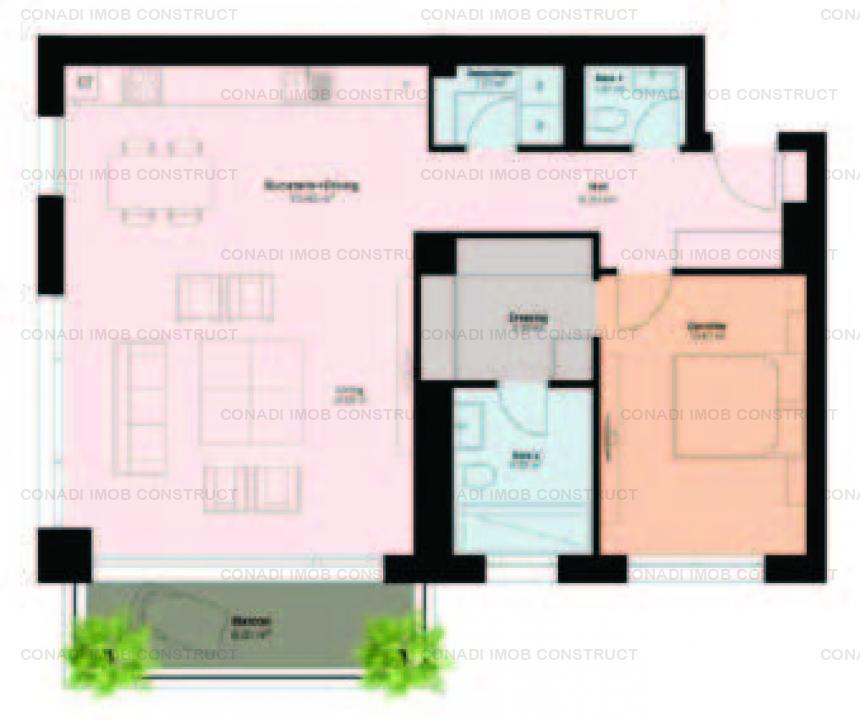 Apartament cu 2 camere in proiect luxury boutique zona Pipera