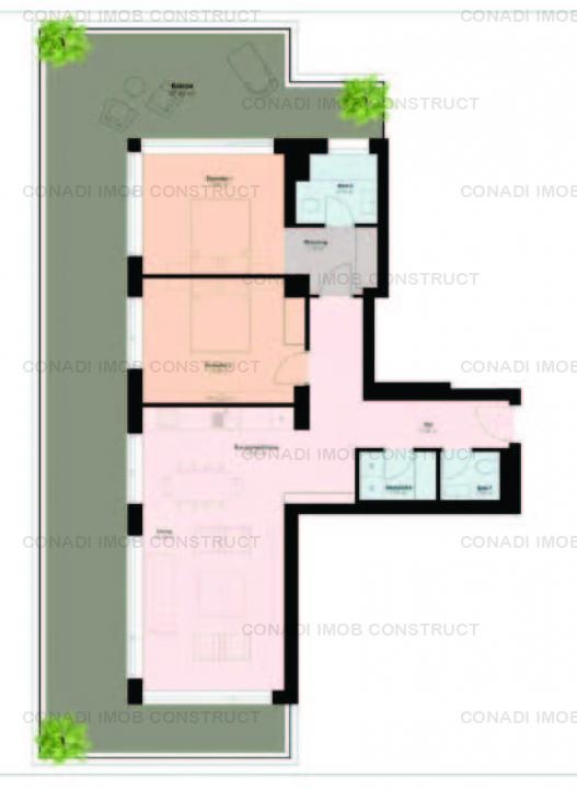 Apartament cu 3 camere in proiect luxury boutique zona Pipera