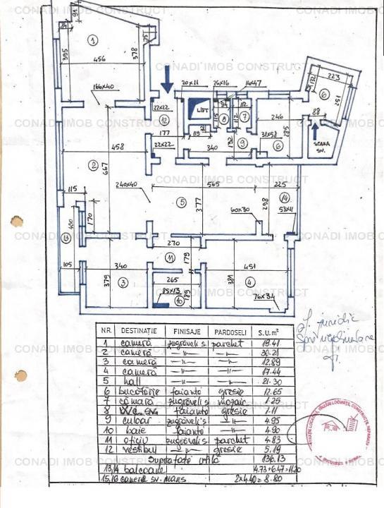 Apartament cu 4 camere in imobil interbelic fara risc seismic -