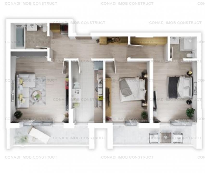 Apartament 3 camere Otopeni - complex rezidential