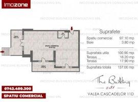 Militari - Metrou PACII 5 min, Spatiu comercial 137 mp., terasa, baie, finalizat