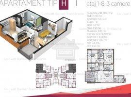 Vanzare  apartament  cu 3 camere  decomandat Cluj, Cluj-Napoca  - 93000 EURO