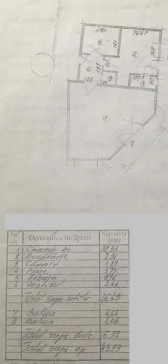 Garsoniera in zona Virtutii ( bloc mixt)