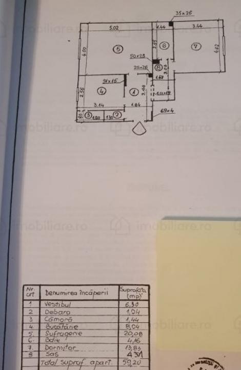 Apartament cu 2 camere in zona Liceul Teoretic Ştefan Odobleja