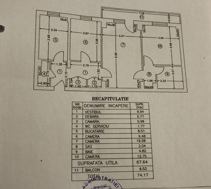 3 camere Piata Rahova