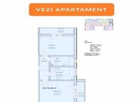 Apartament 2 camare Militari Residence 65 mp