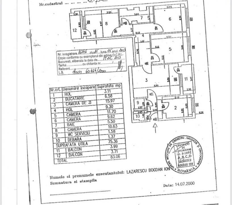 APARTAMENT DE VANZARE 4 CAMERE LUJERULUI-VETERANILOR ( CU CENTRALA )