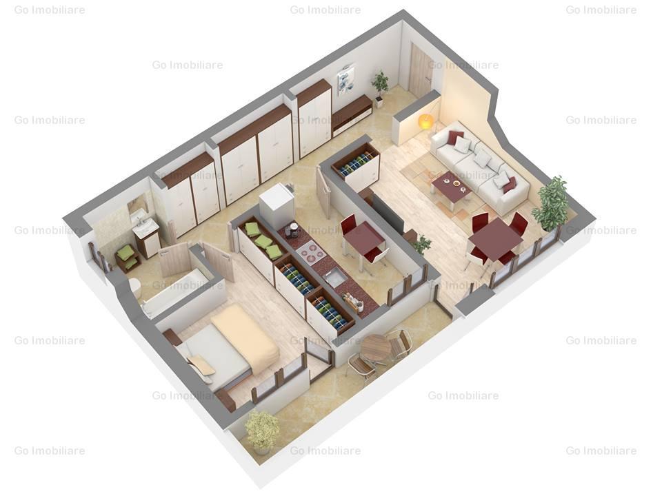 2 camere decomandat, Nicolina , et 1, bloc nou