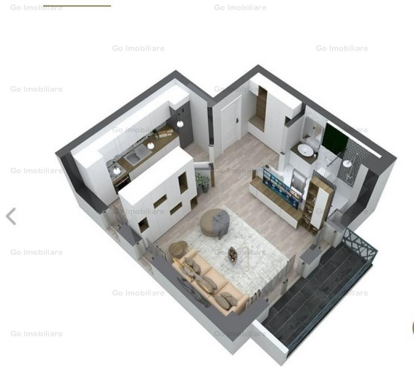 Apartament 1 camera Pacurari