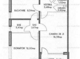 Drumul Taberei 34,adiacent Lasermed,et 8/10,cf1,decomandat circular,52 mp,cu Balcon,bucatarie 9 mp