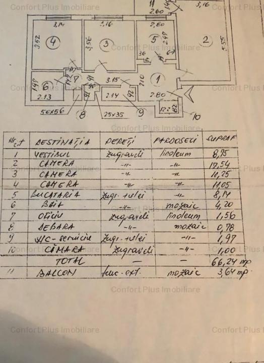 Margeanului,Barca,3 cam,et 8,cf1,dec,70 mp,bloc 1982