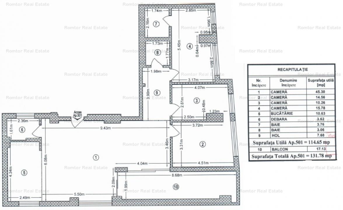 Penthouse 13 Septembrie Palatul Parlamentului, orientare rasarit