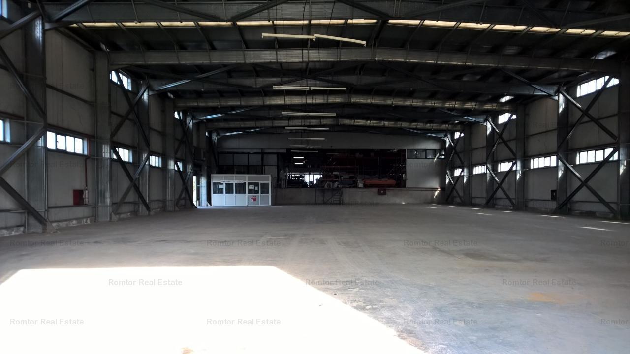 Teren cu spatiu industrial de vanzare in zona Militari