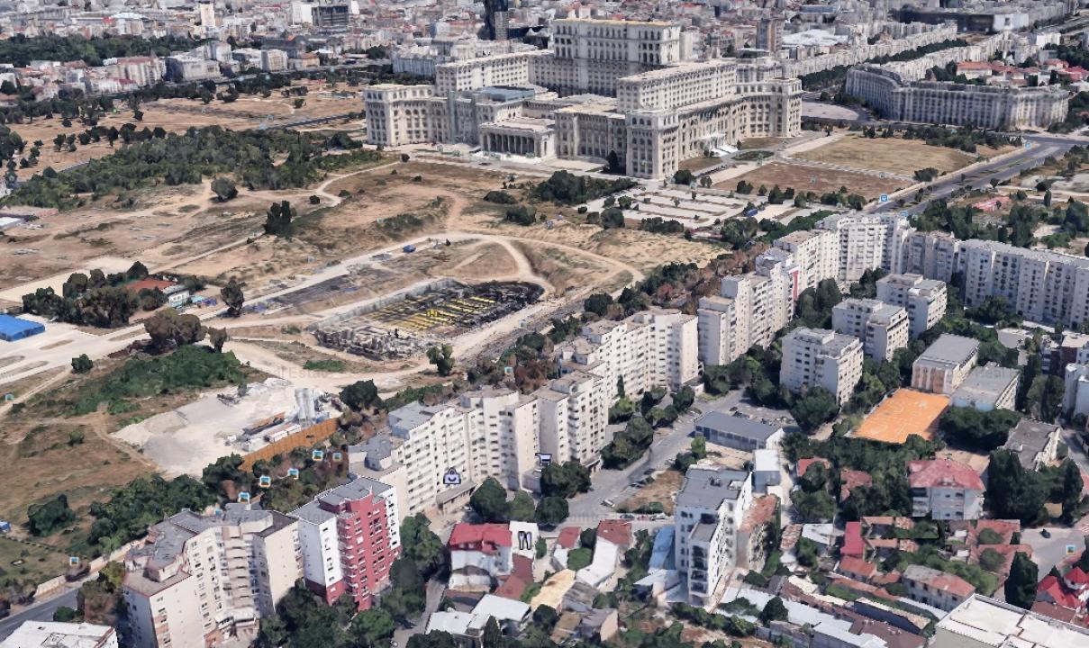13 Septembrie-Palatul Parlamentului, constructie 2008,  liber