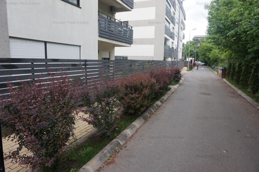 Baneasa-Natura Residence, mobilat, utilat, 2 garaje, liber