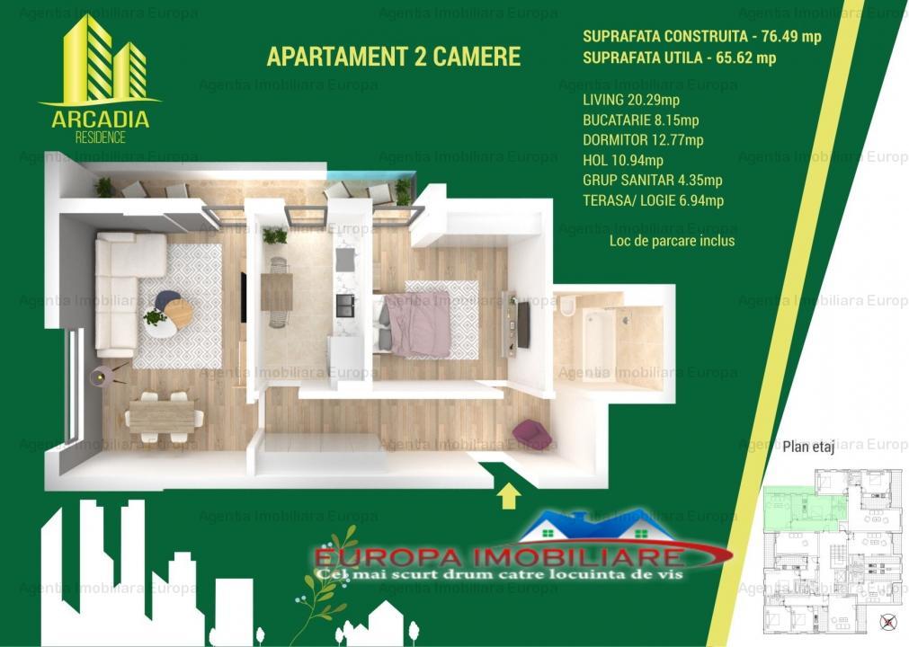 Apartament 2 camere constructie noua comision 0
