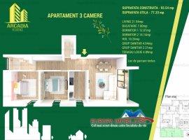 Apartament 3 camere constructie noua comision 0