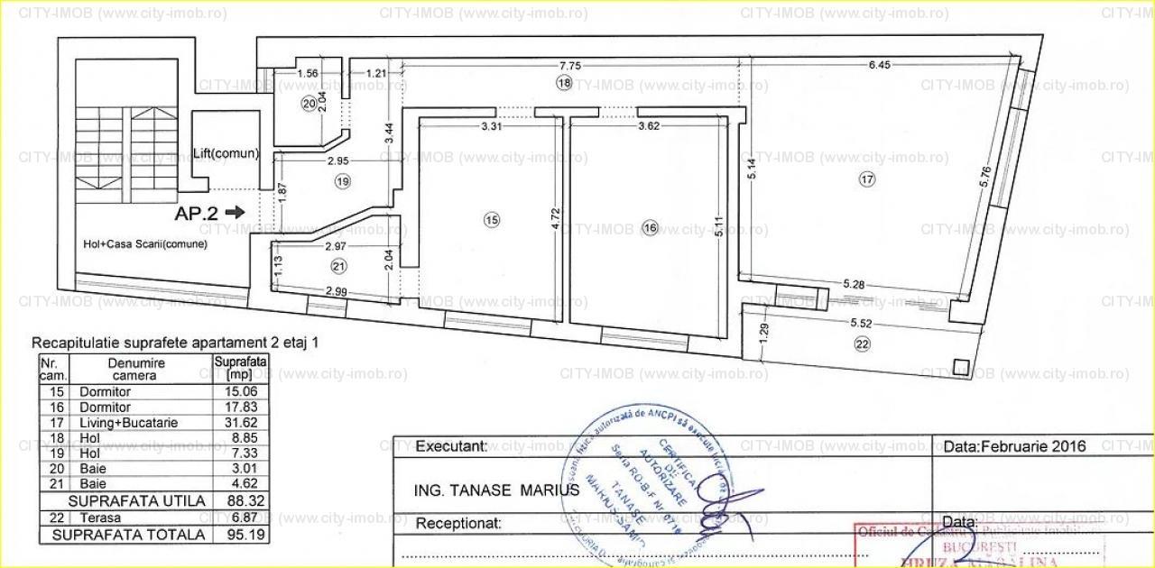 VANZARE APARTAMENT 3 CAMERE Dacia  / Rosetti / Universitate