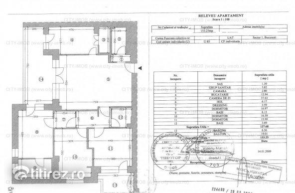 Se vinde apartament 4 camere lux Baneasa