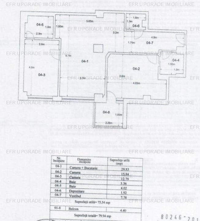 EFR Upgrade Imobiliare - Apartament de vanzare 3 camere, Parcul Copilului