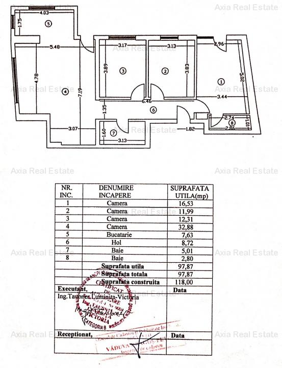 Apartament 4 camere 98mp, curte 120mp - Zona Polona/Eminescu