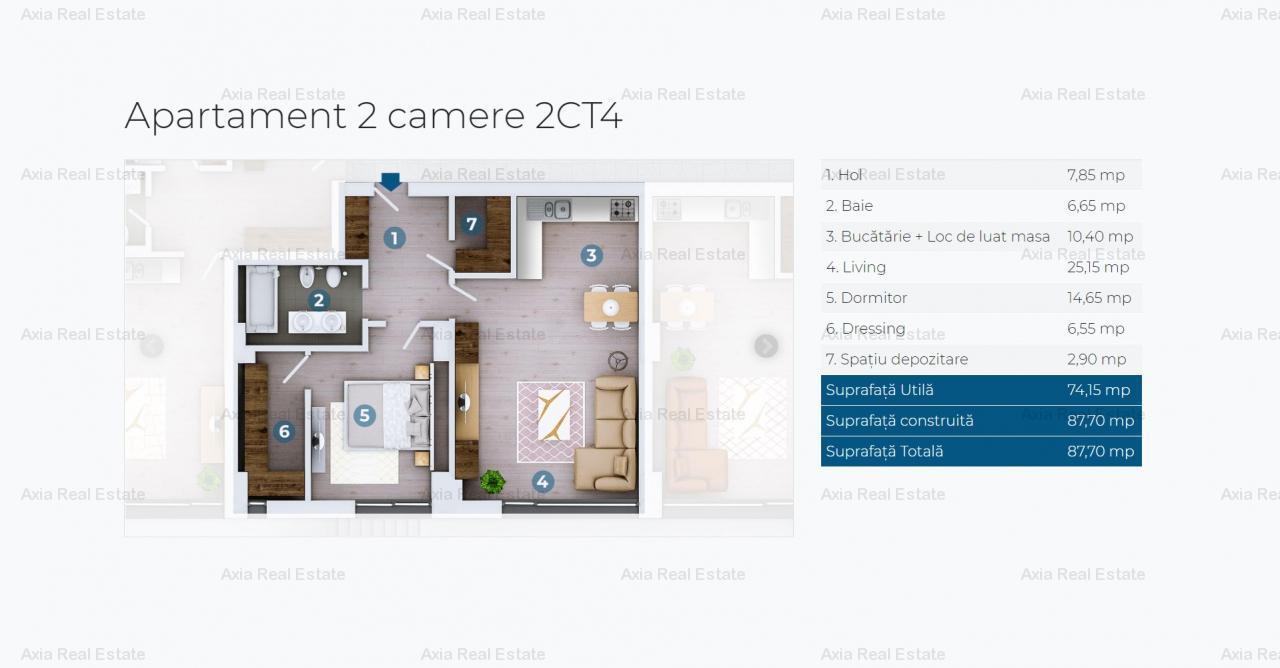 Apartamente 2 camere premium - Zona Floreasca - Vedere lac
